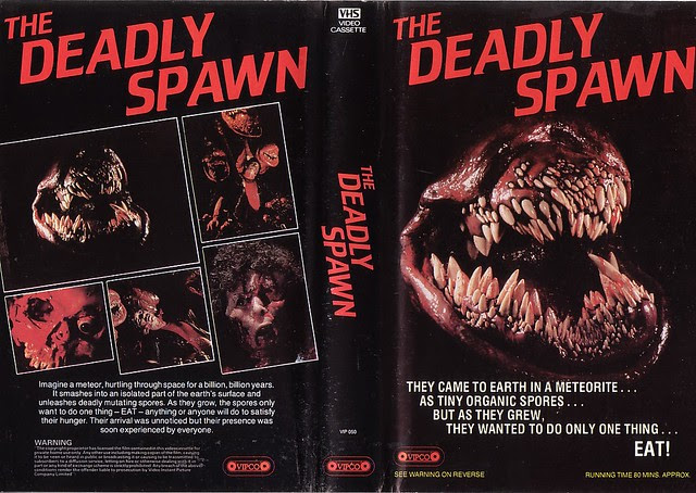 THE DEADLY SPAWN (VHS Box Art)