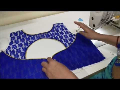 Net Blouse Design Cutting