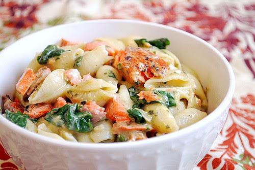 What's Cookin, Chicago: Salmon Spinach Pesto Pasta