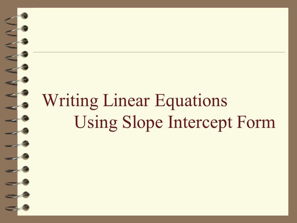 Writing Equations Using Slope Intercept Form Worksheet Answer Key  Tessshebaylo