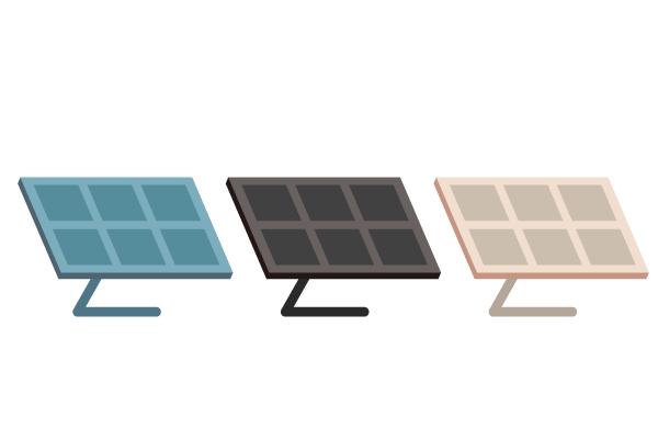 太陽光パネルのイラスト2 街建物系イラスト専門サイトtown Illust