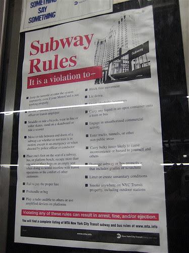New York Subway Rules