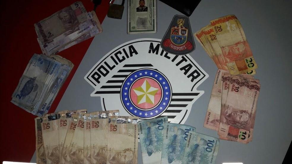 Homem é detido após furtar R$ 1,3 mil da Catedral Metropolitana de Sorocaba (Foto: Polícia Militar/Divulgação)