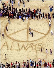 New York Times Beach Protest Picture