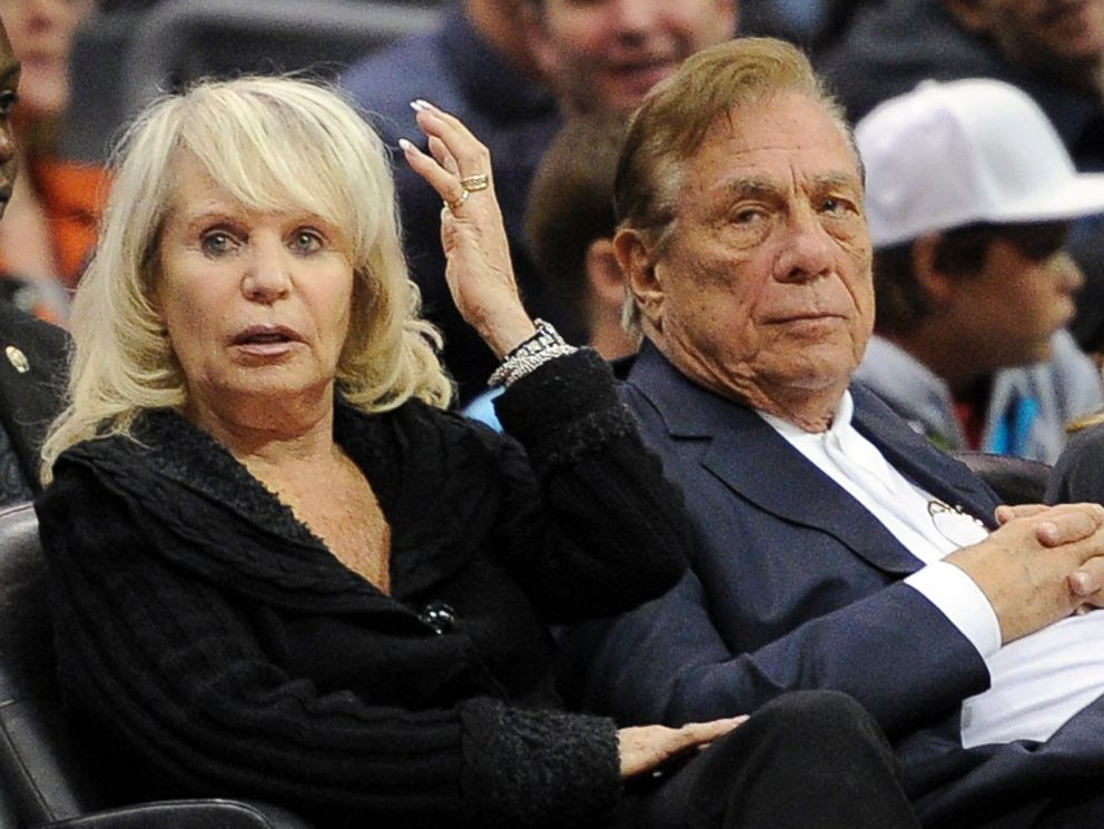 PHOTO: In this Nov. 12, 2010, file photo, Shelly Sterling sits with her husband, Donald Sterling, right, during a Los Angeles Clippers basketball game in Los Angeles.