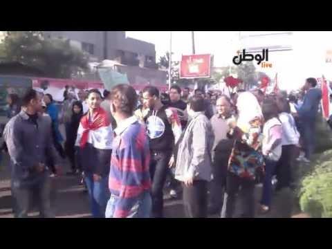 بث حي من مسيرة مصطفى محمود إلى ميدان التحرير 30/11