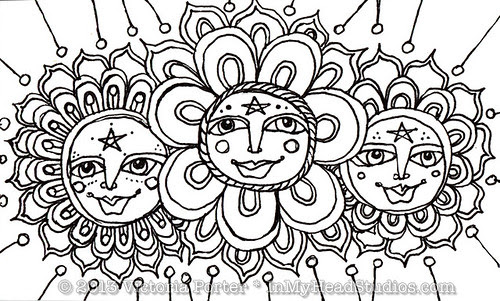 """""""Sun Face Flowers"""" ICAD : 6-9-13"""