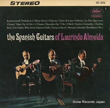 ALMEIDA, LAURINDO spanish guitars of, the