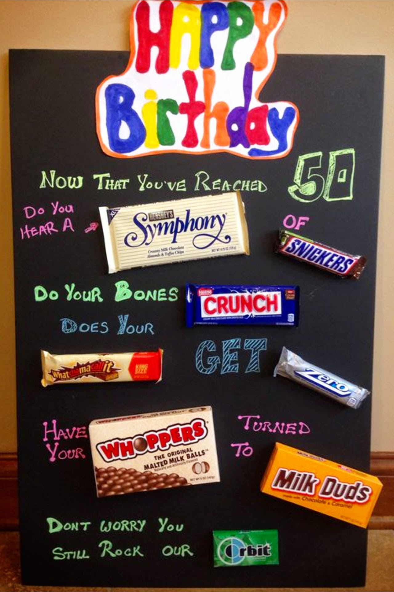 Birthday Candy Card Design Template