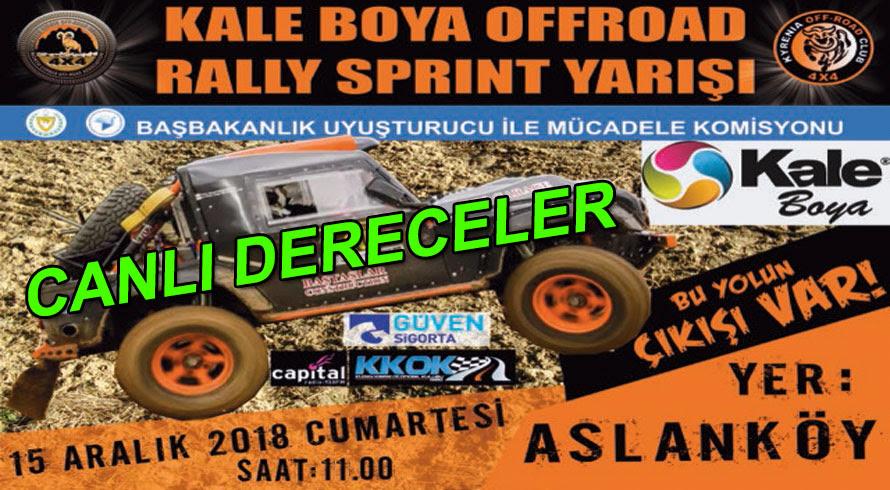 Kale Boya Offroad Rally Sprint Canlı Dereceler Damalı Bayrak