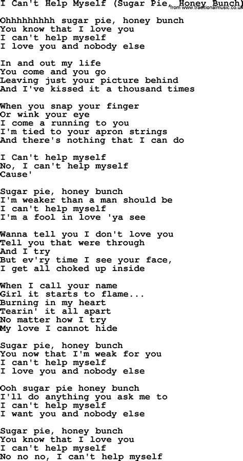 sugar pie honey bunch chords