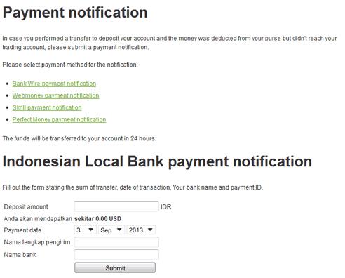 Forex indonesia bank lokal