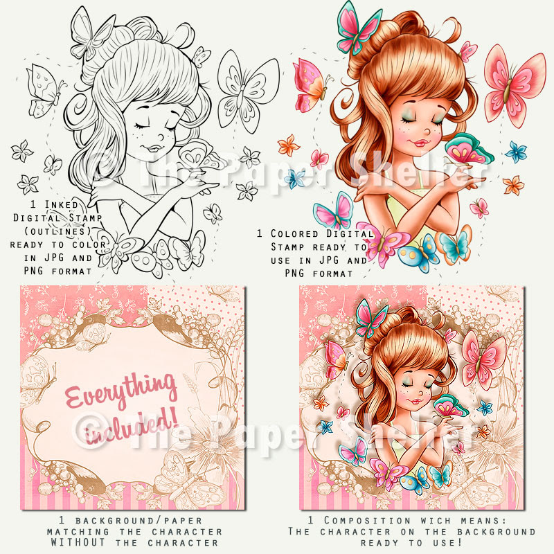 Enchanting Butterflies - Digital Stamp