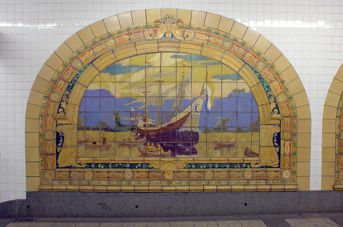 Marine Grill Murals (1/6), Broadway-Nassau Subway Station