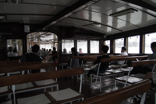 Inside the ferry