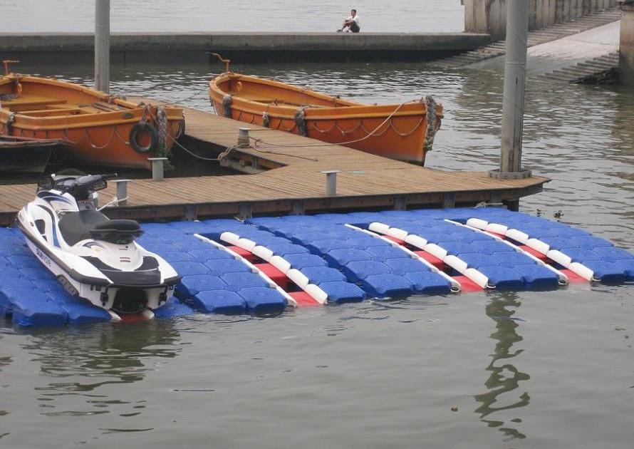 Yact: Get Floating dock plans plastic barrels