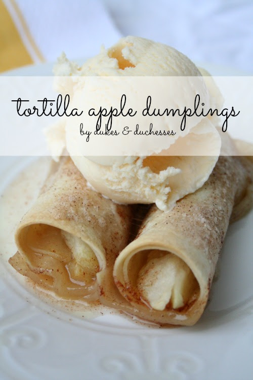 tortilla apple dumplings