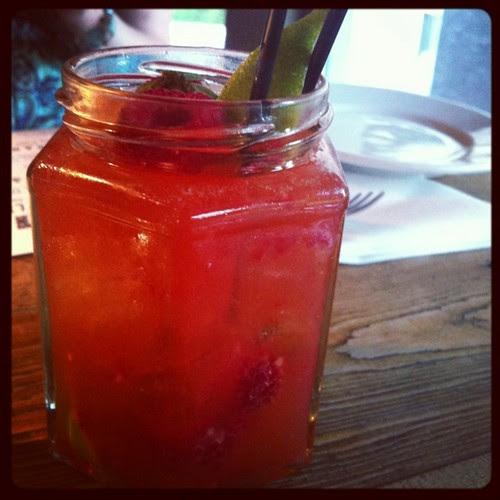 drinks in jam jars