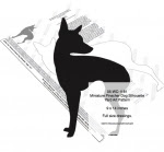 Miniature Pinscher Dog Silhouette Yard Art Woodworking Pattern - fee plans from WoodworkersWorkshop® Online Store - Miniature Pinscher dogs,pets,animals,yard art,painting wood crafts,scrollsawing patterns,drawings,plywood,plywoodworking plans,woodworkers projects,workshop blueprints