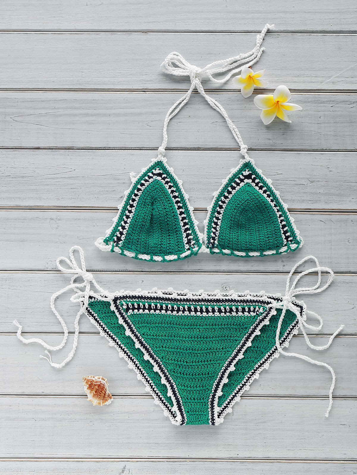 Stylish Crocheted String Bikini Set