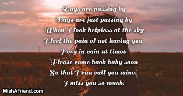 Missing You Poems For Husband