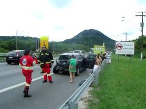 Acidente não deixou nenhum pessoa com ferimentos graves (Foto: Roberto Strauss / Arquivo Pessoal)