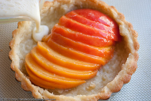 crunchy and custardy peach tart-4