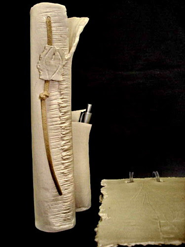 Conjunto escritório em paper clay by Malu Serra