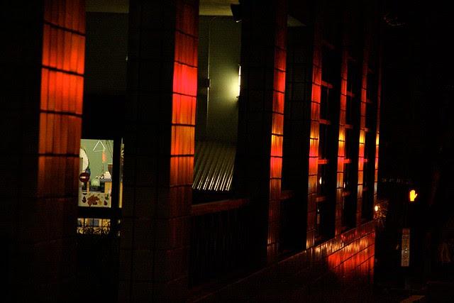 night, portland building