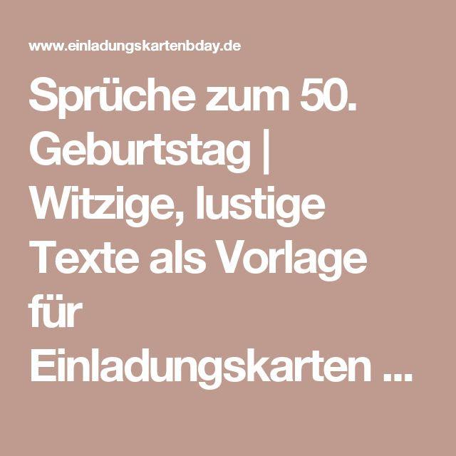 Zum Geburtstag Sprüche 50