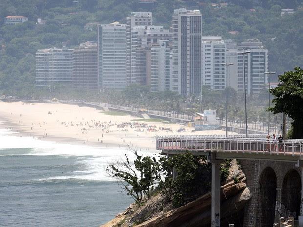 Ciclovia da Avenida Niemeyer, em São Conrado (Foto: Fábio Motta / Estadão Conteúdo)
