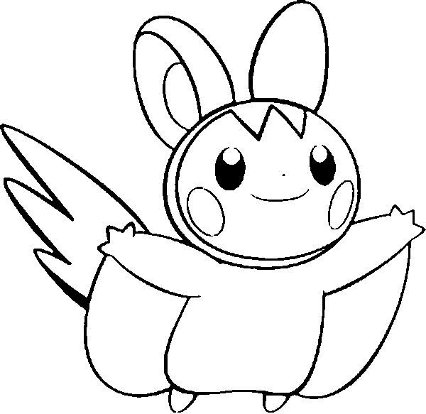 Pokemon Emolga Kleurplaat