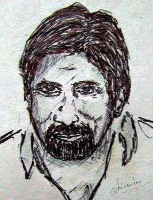 English: A sketch of Mr. Amitab Bachchan