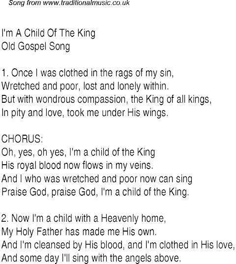 Child Of The King Lyrics