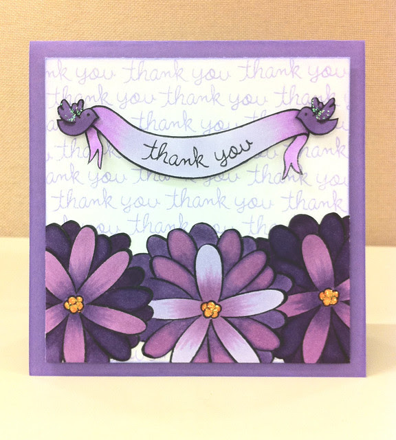 Thank you Card- Bannerific, Judy Blooms, sophie's sentiments