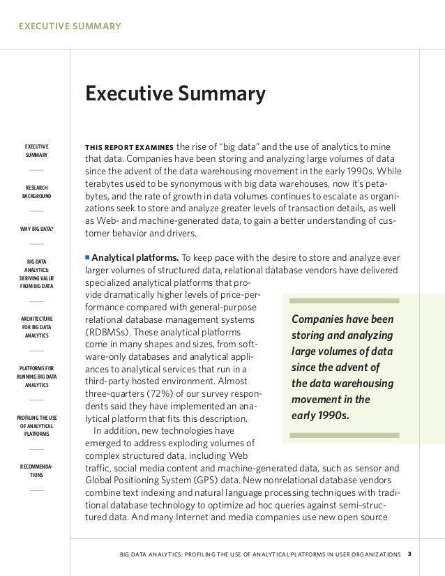 Mapsingen EXECUTIVE SUMMARY EXAMPLES