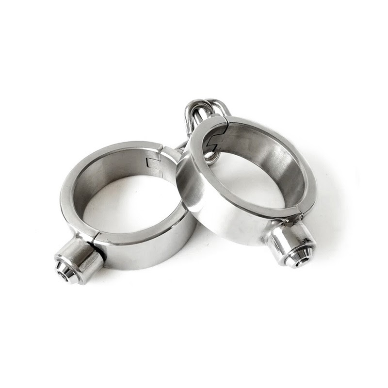 Discount  Sex Toys 304 Stainless Steel Handcuffs Ankle Cuff For Couples Fetish Bondage Lock Bdsm for adult ga