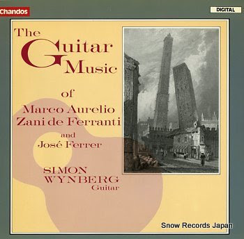 WYNBERG, SIMON guitar music of marco aurelio, zani de ferranti and jose ferrer