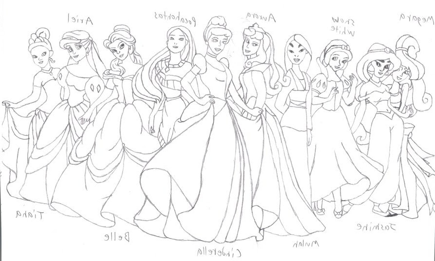950 Coloring Pages Of Disney Princess Belle Images & Pictures In HD