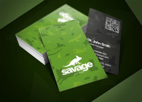 Savage Pet Shop Business Card ~ Business Card Templates on