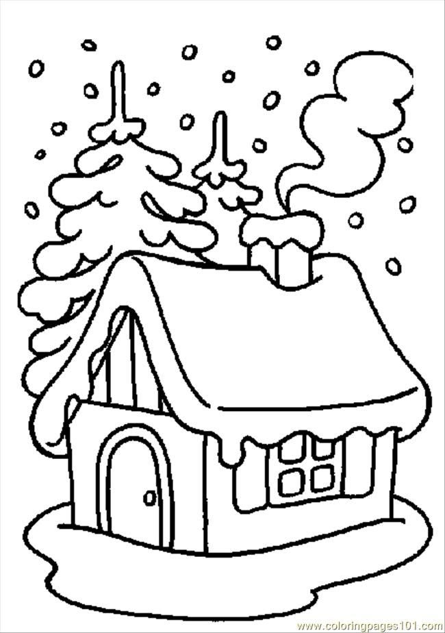 Winter Coloring Pages For Kids Free Printable - Drawing With Crayons