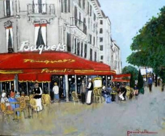 """Résultat de recherche d'images pour """"cafés champs elysees peinture"""""""