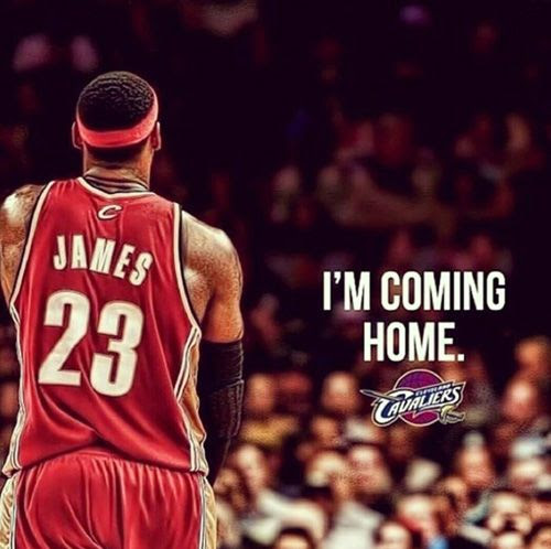 LeBron James is going back to the Cleveland Cavaliers.