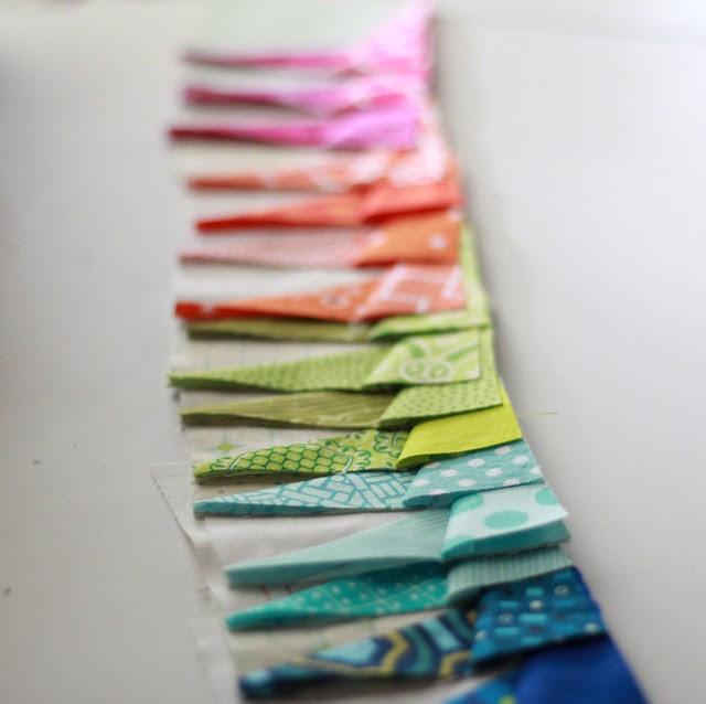 Rainbow of blocks