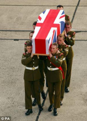 Trooper Jack Sadler was repatriated to RAF Lyneham