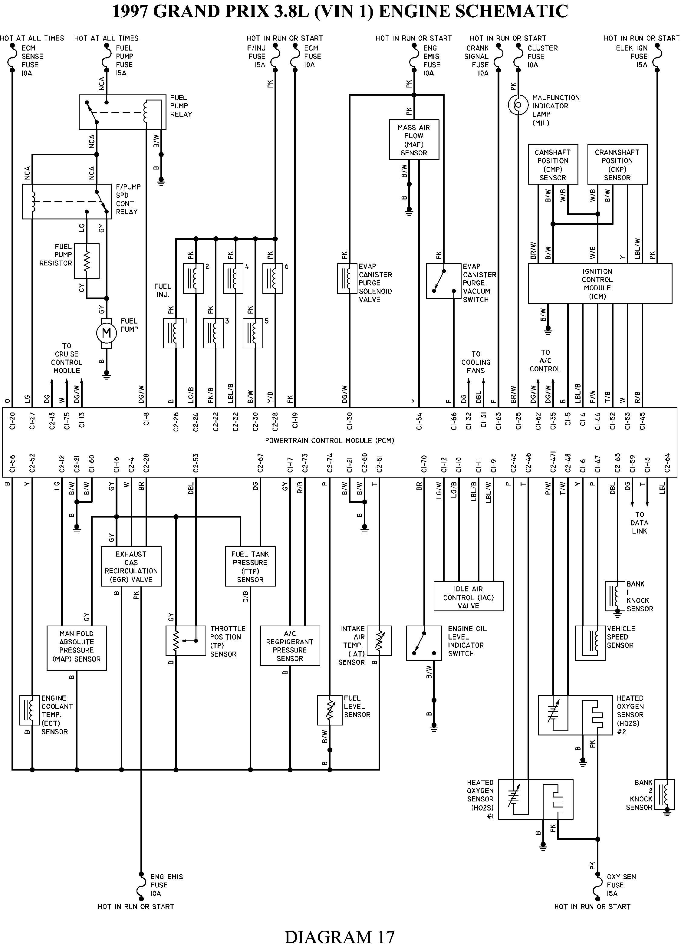 Wiring Diagram 1997 Pontiac Grand Am - Wiring Diagram