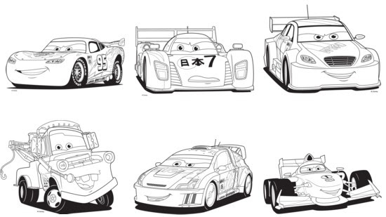 Cars Francesco Coloriages Sketch Coloring Page