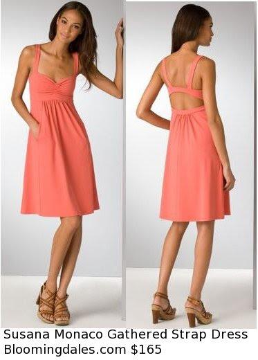 Susana Monaco Gathered Strap Dress
