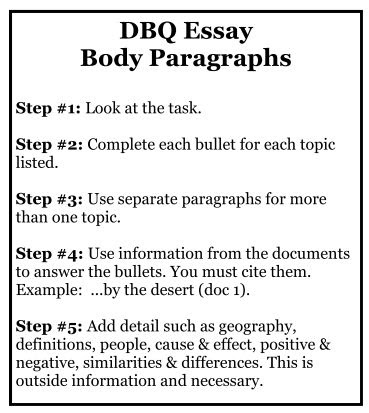 how to write a dbq essay for regents