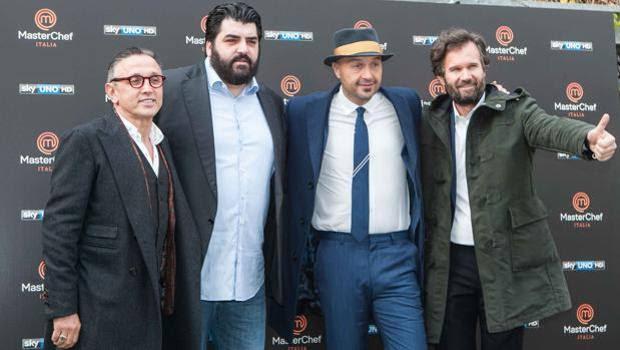 I quattro giudici dell'edizione 2016 di Masterchef Italia: Bruno Barbieri, Antonino Cannavacciuolo, Joe Bastianich e Carlo Cracco. Lapresse